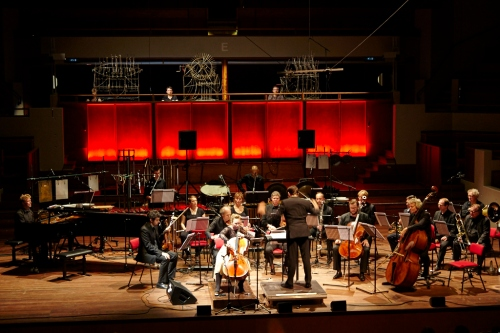 2014 Cello Concerto by Kate Moore performed by Ashley Bathgate and Asko|Schoenberg with sculptures by Peter van Loon. Photo by Johan Nieuwenhuize