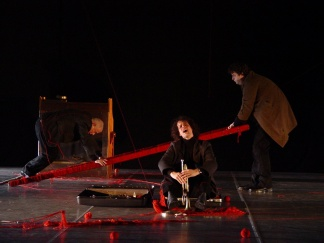 2008 The Open Road with music by Kate Moore, directed by Matthias Mooij, performed by Eva Tebbe, Michaela Riener, Marc Kaptijn, Eef van Breen, design by Piia Maria Pekkenan
