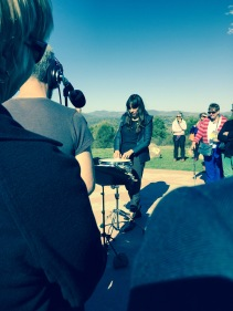 "Bree van Reyk performs ""Rain (1998)"" at The Moon Landing on Mount Stromlo"