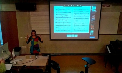 Lecture/ masterclass with Kate Moore at The Australian National University Canberra School of Music 4/5/2015