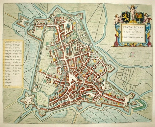 historical map of 's-hertogenbosch